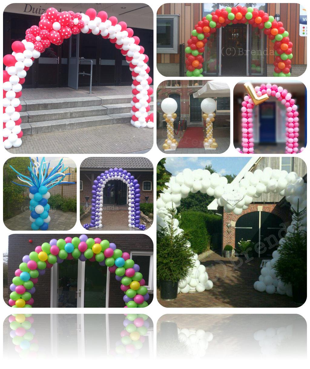 Collage Ballonbogen en Pilaren