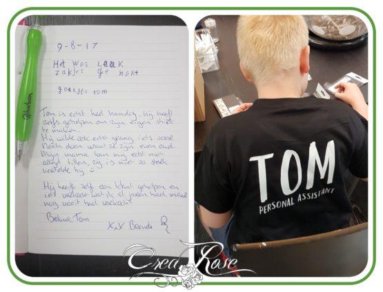 Tom als eerste Personal Assistent bij Beleef en Geef
